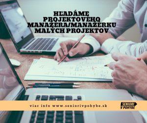 Projektová manažérka/manažér malých projektov