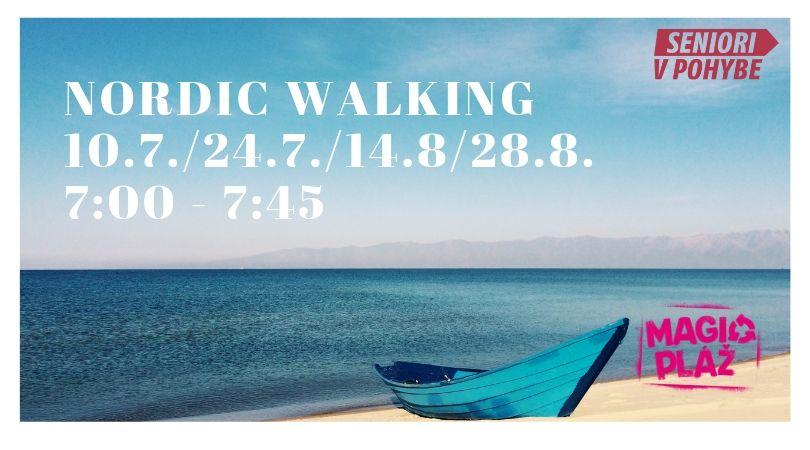 Nordic walking na Magio pláži