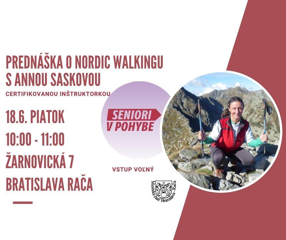Prednáška o nordic walkingu